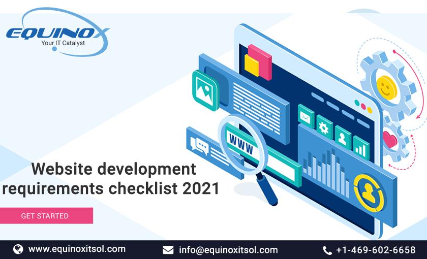 Website Development Requirements Checklist 2021